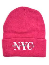 NEW HATTAN NEW YORK CITY KNIT CAP【NH-NY02S-80HPK-HOT PINK】