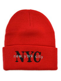 NEW HATTAN NEW YORK CITY KNIT CAP【NH-NY02S-80RED-RED】