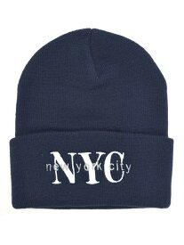 NEW HATTAN NEW YORK CITY KNIT CAP【NH-NY02S-80NVY-NAVY】