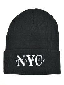 NEW HATTAN NEW YORK CITY KNIT CAP【NH-NY02S-80BLK-BLACK】
