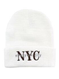 NEW HATTAN NEW YORK CITY KNIT CAP【NH-NY02S-80WHT-WHITE】