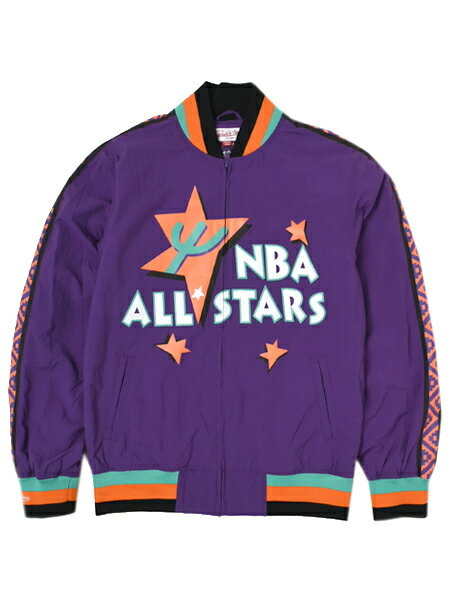 【送料無料】MITCHELL & NESS NBA ALL STARS WARM UP JKT 95 PHOENIX【6361-AS1-95AW2-PURPLE】