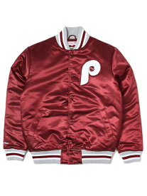 【送料無料】MITCHELL & NESS SATIN JACKET PHILADELPHIA PHILLIES【6391-420-APPHGH-BURGUNDY】