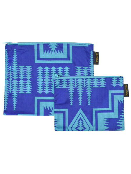 PENDLETON 2 PACK ZIP POUCH HARDING ROYAL【GF431-5443-BLUE】