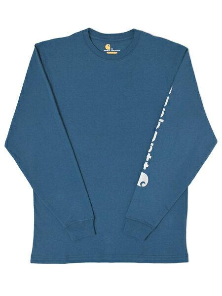 CARHARTT WORKWEAR GRAPHIC LOGO TEE-STREAM BLUE【K231-984-DARK BLUE】
