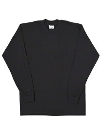 PRO CLUB HEAVY WEIGHT L/S TEE-BLACK【PRC1X-HWTLT-BLK-BLACK】