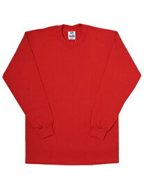 PRO CLUB HEAVY WEIGHT L/S TEE-RED【PRC1X-HWTLT-RED-RED】