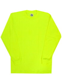 PRO CLUB COMFORT CREW L/S TEE-SAFETY GREEN【PRC1X-CMFCLT-SG-NEON YELLOW】