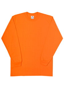 PRO CLUB COMFORT CREW L/S TEE-SAFETY ORANGE【PRC1X-CMFCLT-SO-BRIGHT ORANGE】
