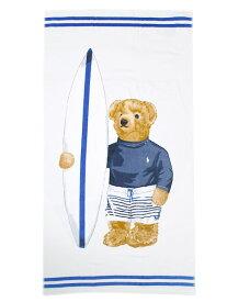 POLO RALPH LAUREN SURF BOY BEAR BEACH TOWEL【611710072001-B-WHITE】