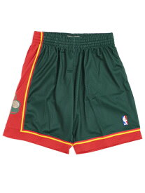 【送料無料】MITCHELL & NESS SWINGMAN SHORTS SUPERSONICS 1995-1996【SMSHGS18253-DARK GREEN】