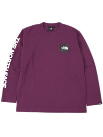 THE NORTH FACE L/S SQUARE LOGO TEE【NT81931-PA-PURPLE】