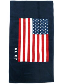 POLO RALPH LAUREN STRIPES STARS AMERICAN FLAG BEACH TOWEL【611680910001-B-NAVY】