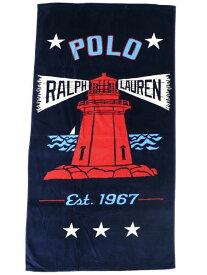 POLO RALPH LAUREN LIGHTHOUSE BEACH TOWEL【611741213001-B-NAVY】