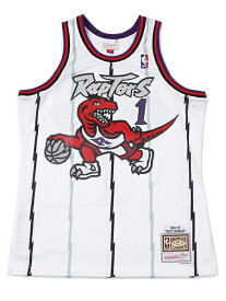 【送料無料】MITCHELL & NESS SWINGMAN JERSEY RAPTORS 98 #1 T.MCGRADY【SMJYAC18106-WHITE】