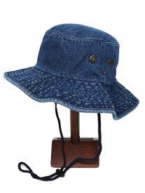 NEW HATTAN DENIM SAFARI HAT-DARK BLUE【NH-1563DB-DARK BLUE】