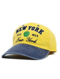 NEW HATTAN NY APPLE PIGMENT DYE 2T WASH CAP-YEL/BLU【NH-NY20-1201YB-YELLOW】