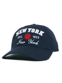 NEW HATTAN NY APPLE 6PNL COTTON CAP-NAVY【NH-NY20-1400NV-NAVY】