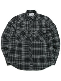PRO CLUB FLANNEL SHIRT-BLACK/CHARCOAL/H.GREY【PRC-151-BCH-BLACK】