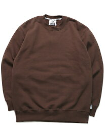PRO CLUB HW 13oz PULLOVER CREW SWEAT【PRC-141-BRN-BROWN】