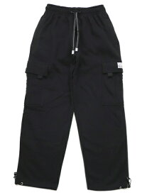 PRO CLUB HW FLEECE CARGO PANTS【PRC-162-BLK-BLACK】
