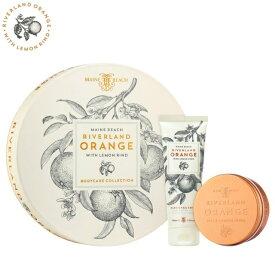 MAINE BEACH マインビーチ リバーランドオレンジ シリーズ Duo Gift Pack デュオギフトパック ハンドクリーム ボディクリーム セット