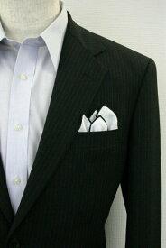 ◆【H-8】ポケットチーフ 挿すだけ 台紙 フィックスポン クラッシュ【麻・リネン】【パイピング:ブラック】fixpon 差し込み式 送別 卒業式 入学式 入社式 結婚式 ブライダル パーティー ギフト 冠婚葬祭