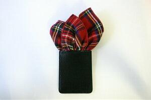 フィックスポンクラッシュ【レッド】【タータン・チェック】fixponポケットチーフ