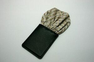 フィックスポンパッフド1【ベージュ】【パターン柄】西陣織fixponポケットチーフ