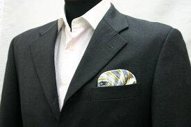 ◆【N-6】ポケットチーフ 挿すだけ 台紙 フィックスポン パッフド1【シルク】【ブルー02】【和柄】fixpon 差し込み式 送別 卒業式 入学式 入社式 結婚式 ブライダル パーティー ギフト 冠婚葬祭