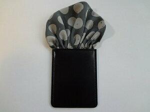 フィックスポンパッフド1【グレー】【ドット柄】fixponポケットチーフ