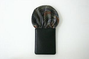 フィックスポンパッフド1【ブラック】【イエローウェーブライン】fixponポケットチーフ