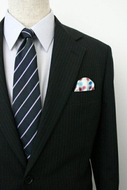 ◆【K-9】ポケットチーフ 挿すだけ 台紙 フィックスポン パッフド1 【ブルー】【水玉模様】 スーツにin!簡単型崩れ防止!ホルダー(チーフフォルダー)とチーフが一体に!fixpon 冠婚 送別 卒業式 入学式 入社式 結婚式