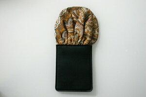 フィックスポンパッフド1【ブラウン×レッドベース】【ペイズリー柄】fixponポケットチーフ