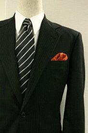 ◆【E-9】ポケットチーフ 挿すだけ 台紙 フィックスポン パッフド2【オレンジ】【千鳥格子】【織柄】fixpon 差し込み式 送別 卒業式 入学式 入社式 結婚式 ブライダル パーティー ギフト 冠婚葬祭