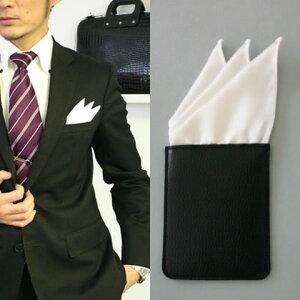 フィックスポンスリーピークス【ホワイト】fixponポケットチーフ