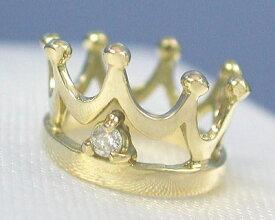 K18 ダイヤモンド ベビーリング クラウン プリンス タイプ 【送料無料】【smtb-TD】【saitama】【プレゼント ギフト】▼