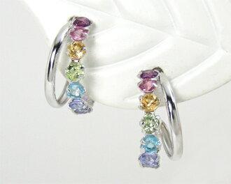 K10WG multi-stone earrings ▼