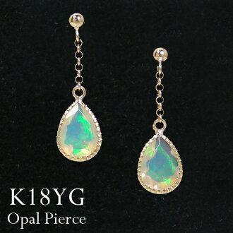 Opal K18YG7x5mm shizuku Ethiopia from Mill beat Pierce design ▼