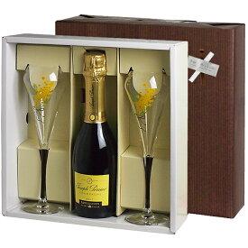 ワイン ギフト 【送料無料】 <375mlハーフボトル> ジョセフ・ペリエ シャンパーニュ グラスギフト (泡1、グラス2) ワイングラス 結婚祝 誕生日 グラス付き プレゼント シャンパン ギフトセット 女性 男性 お酒
