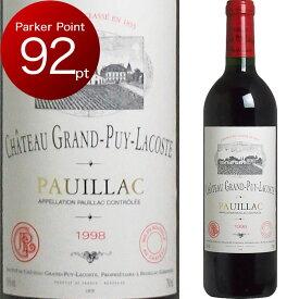 [1998] シャトー・グラン・ピュイ・ラコスト [Chateau Grand Puy Lacoste] (フランス/ボルドー/ポイヤック) ワイン 赤ワイン