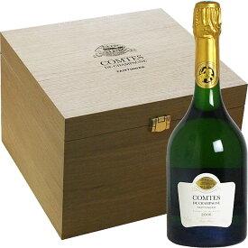 <木箱入り> [2006] テタンジェ コント・ド・シャンパーニュ ブラン・ド・ブラン×6本 並行品[Taittinger Comtes de Champagne Blanc de Blanc] 【L】