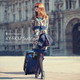 世界基準施錠・TSA搭載【送料無料・保証付・超軽量タイプ・YKK使用】清潔空間・消臭、抗菌仕様GriffinシリーズFk1037ミラーポリカーボン配合スーツケース大型旅行かばん。キャリーケース。L/LMサイズキュリキャリーリモワもいいけどグリフィンも♪