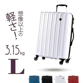 GRIFFINLAND スーツケース Lサイズ かわいい キャリーバッグ 保証付 清潔空間 消臭 抗菌仕様 ポリカーボネート 旅行かばん おしゃれ 9連休 夏休み お盆 帰省 海外 国内