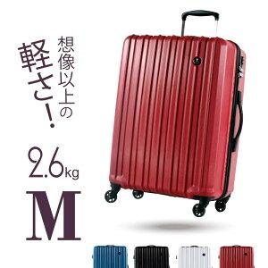 GRIFFINLAND スーツケース PC7258 Mサイズ 中型 超軽量 おすすめ かわいい キャリーバッグ ポリカーボネート 旅行かばん おしゃれ ファスナー TSAロック ハードケース 海外 国内 旅行 Go To Travel キャ
