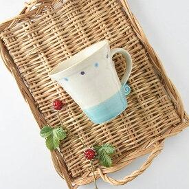 ミネットマグカップ ブルー 11x9.5cm [日本製/美濃焼/洋食器] 生活雑貨 キッチン 食器 マグカップ 日本 器 美濃焼 東海焼 TOKAI-YAKI 東海焼き 現代風アレンジ