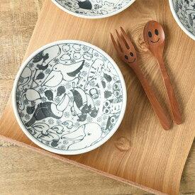 いきものずかん 13.8x13.8cm 深皿 とりのなかま [日本製/美濃焼/洋食器] 生活雑貨 キッチン 食器 皿 小皿 日本 皿 器 美濃焼 いきものずかん 東海焼 TOKAI-YAKI 東海焼き 現代風アレンジ お皿