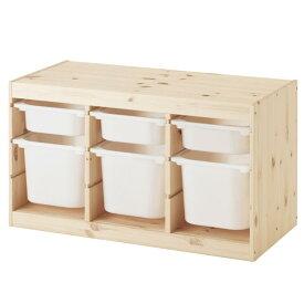 【IKEA/イケア】 TROFAST トロファスト 収納コンビネーション 収納棚 収納ボックス バーチ材合板 ホワイト お片付け キッズ こども