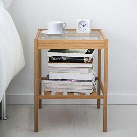 NESNA ベッド サイドテーブル ネスナ 36x35 cm 20247128  寝室 ベッドルーム 机 デスク おしゃれ 北欧 かわいい ガラス コーヒーテーブル カフェ ソファ 収納付き 収納棚 IKEA イケア サイドテーブル