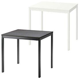 IKEA イケア VANGSTA ヴァングスタ 伸長式テーブル ブラック ダークブラウン ホワイト 白 80 × 120 × 70 cm デスク 北欧 北欧家具 ダイニングテーブル 調整可能 おしゃれ 伸長式ダイニングテーブル 伸張式